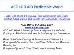 acc 400 aid predictable world 8