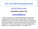 acc 400 help predictable world 1