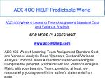 acc 400 help predictable world 13