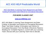 acc 400 help predictable world 8