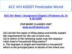acc 401 assist predictable world 1