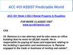 acc 401 assist predictable world 12