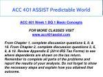 acc 401 assist predictable world 2