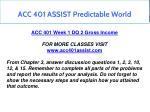 acc 401 assist predictable world 3