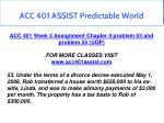 acc 401 assist predictable world 6