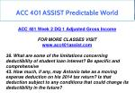 acc 401 assist predictable world 7