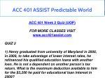 acc 401 assist predictable world 9