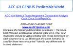 acc 421 genius predictable world 18