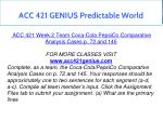 acc 421 genius predictable world 8