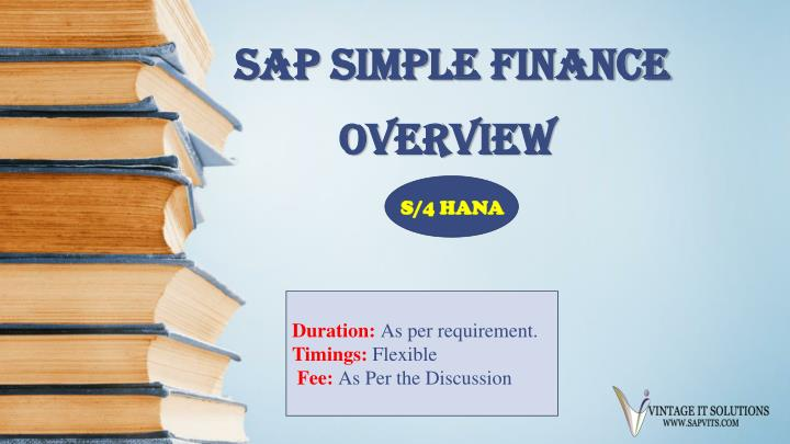 sap simple finance n.