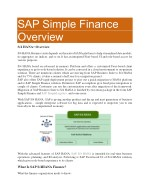 sap simple finance overview s 4 hana overview