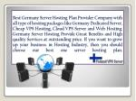 best germany server hosting plan provider company