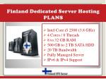 finland dedicated server hosting plans
