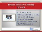 finland vps server hosting plans