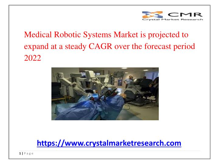medical robotic systems market is projected n.