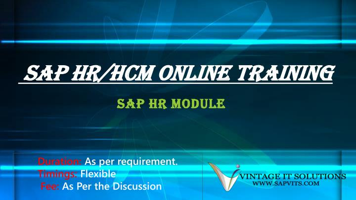 sap hr hcm online training n.