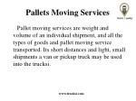 pallets moving services 1
