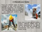 3 diversify your blades