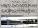 4 plan for buried materials