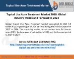 topical use acne treatment market