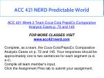 acc 421 nerd predictable world 8