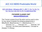acc 422 nerd predictable world 10