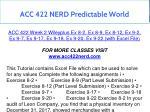 acc 422 nerd predictable world 15