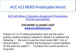 acc 422 nerd predictable world 32