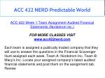 acc 422 nerd predictable world 9