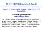 acc 422 nerd predictable world