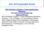 acc 455 predictable world 11