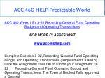 acc 460 help predictable world 3