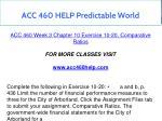 acc 460 help predictable world 9