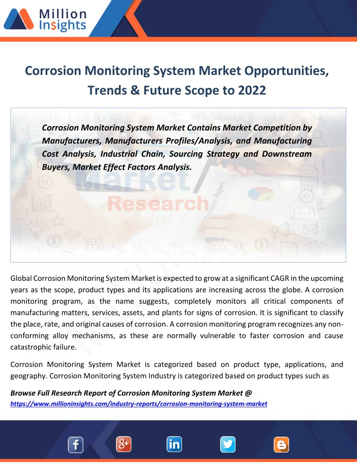 corrosion monitoring system market opportunities n.