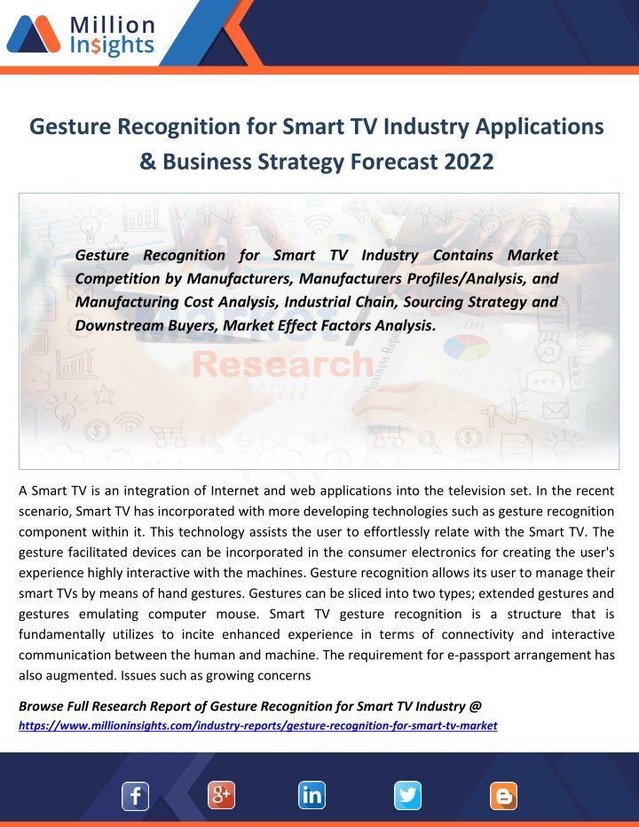 gesture recognition for smart tv industry n.