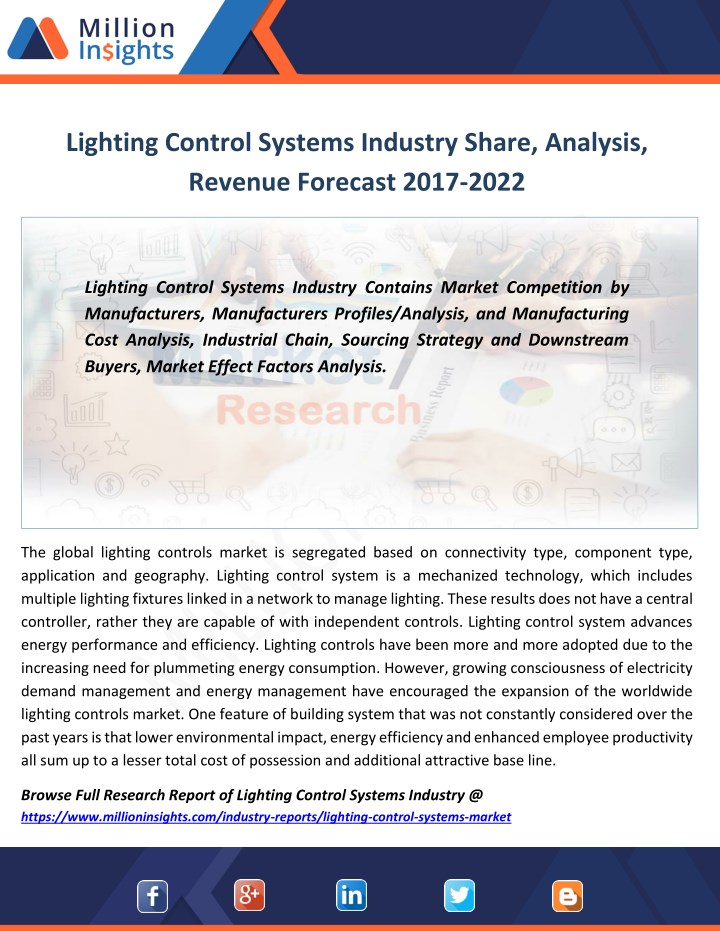 lighting control systems industry share analysis n.