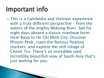this is a cambodia and vietnam experience with