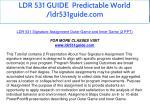 ldr 531 guide predictable world ldr531guide com 10