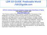 ldr 531 guide predictable world ldr531guide com 9