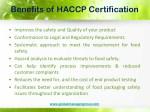 benefits of haccp certification