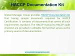 haccp documentation kit