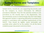 sample forms and templates