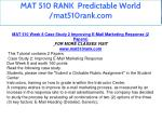 mat 510 rank predictable world mat510rank com 11