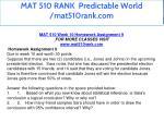 mat 510 rank predictable world mat510rank com 14