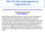 mgt 230 aid predictable world mgt230aid com 13