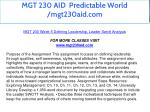 mgt 230 aid predictable world mgt230aid com 25