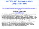 mgt 230 aid predictable world mgt230aid com 26