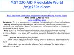 mgt 230 aid predictable world mgt230aid com 6