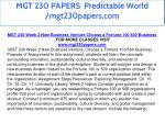 mgt 230 papers predictable world mgt230papers com 13