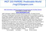 mgt 230 papers predictable world mgt230papers com 19